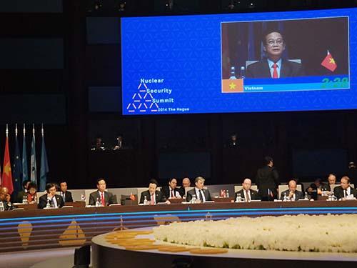 Thủ tướng Nguyễn Tấn Dũng phát biểu tại Hội nghị Thượng đỉnh An ninh Hạt nhânẢnh: TTXVN