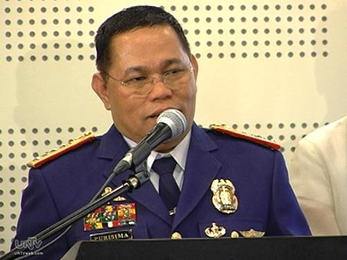 Ông Alan Purisima, giám đốc cơ quan cảnh sát quốc gia Philippines Ảnh: UNTV News