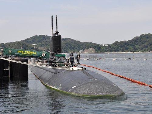Tàu ngầm USS TopekaẢnh: NAVY DADS