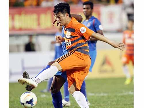 Văn Quyến sẽ trở lại giúp V.Ninh Bình tại tứ kết AFC Cup 2014 trước Kitchee của Hồng Kông ảnh: Hải Anh