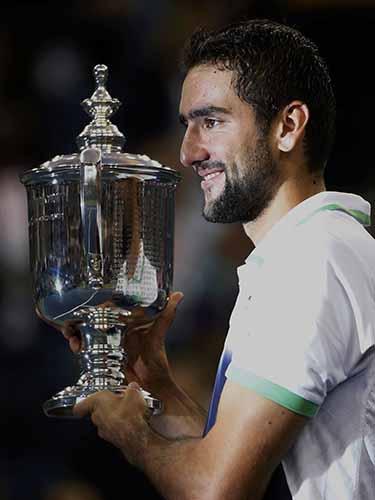 Cilic với danh hiệu Grand Slam đầu tiên trong sự nghiệp Ảnh: REUTERS
