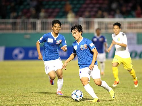 Xuất thân từ lò đào tạo Arsenal-HAGL JMG, Minh Vương sẽ là niềm hy vọng mới của HAGL ở V-League 2014Ảnh: Minh Trần