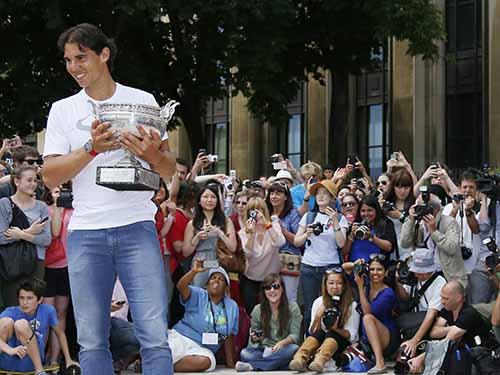 Nadal lần thứ chín vô địch Pháp mở rộng Ảnh: REUTERS