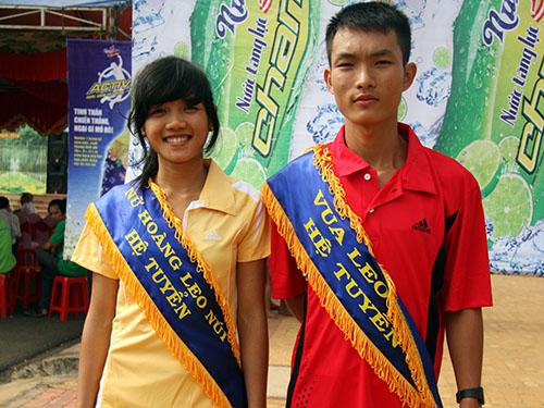 Hai nhà vô địch nữ và nam hệ đội tuyển Vũ Thị Trang, Hoàng Nguyên Thanh