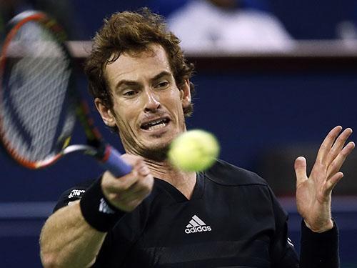 Murray trong trận thắng vất vả Gabashvili tối 7-10Ảnh: REUTERS
