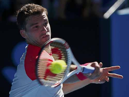 """Dimitrov, biệt danh """"tiểu Federer"""", là một trong những ngôi sao đáng chú ý ở giải Ảnh: REUTERS"""