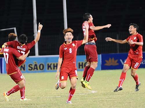 U21 Thái Lan vào chung kết gặp U19 HAGL.Ảnh: ANH DŨNG