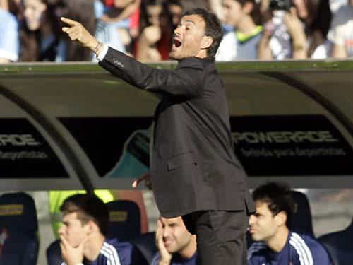 HLV Enrique chỉ đạo trận Celta Vigo - Real Madrid  ở La Liga mùa 2013-2014Ảnh: REUTERS