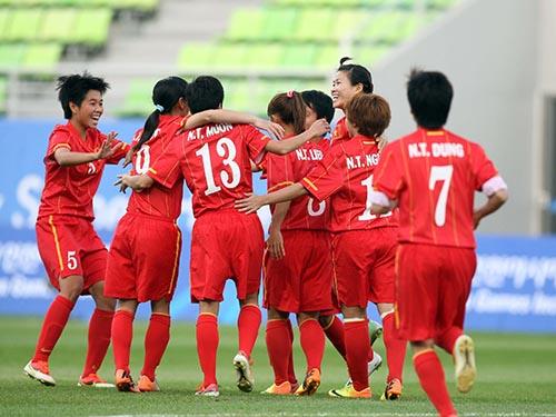 Đội nữ Việt Nam lần đầu vào đến bán kết Á vận hội sau chiến thắng ngược dòng trước Thái Lan  chiều 26-9Ảnh: Ngọc Linh