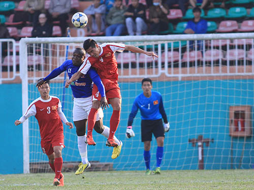 Tân binh Timothy (11) được kỳ vọng giúp HAGL giành 3 điểm trước Hà Nội T&TẢnh: Minh Trần