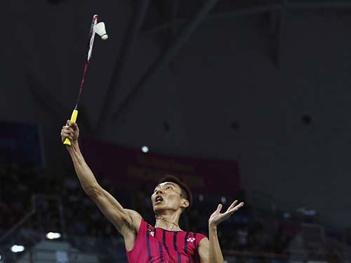 Lee Chong Wei ở Giải Vô địch Cầu lông thế giới 2014, giải đấu mà mẫu thử của anh sau trận bán kết cho kết quả dương tính với chất bị cấm Ảnh: REUTERS