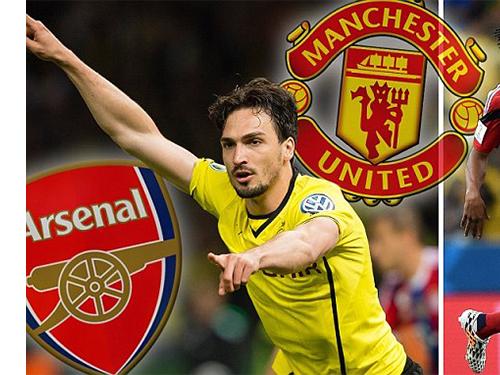 Hummels trở thành mục tiêu tranh chấp giữa Arsenal và M.U, đội tin rằng sẽ có được ngôi sao trẻ Cuadrado trong vài ngày tới  Ảnh: Daily Mail