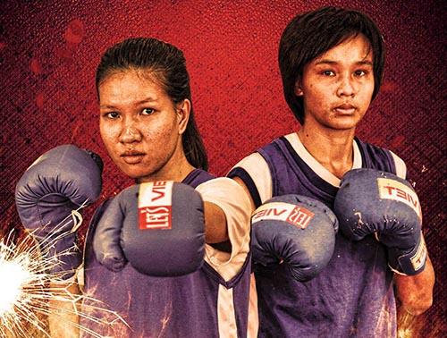 Trận đấu giữa Tuyết Mai (phải) và Nguyễn Thị Hằng ở hạng cân 54 kg nữ hứa hẹn nhiều hấp dẫn