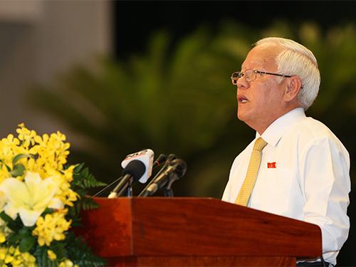 Chủ tịch UBND TP HCM Lê Hoàng Quân phát biểu bế mạc kỳ họpẢnh: QUANG LIÊM