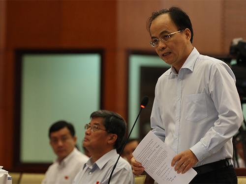 ĐB Lê Mạnh Hà, Phó Chủ tịch UBND TP HCM, đề nghị xử lý kiên quyết, dứt điểm ô nhiễm môi trường ở quận 12 Ảnh: QUANG LIÊM