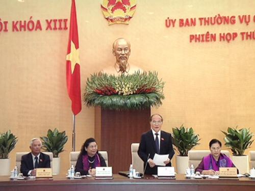 Chủ tịch Quốc hội Nguyễn Sinh Hùng chủ trì phiên họp thứ 32 của Ủy ban Thường vụ Quốc hội