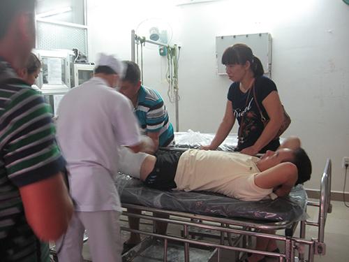 Máy trưởng Lương Đại Thành đang được điều trị tại Bệnh viện Lê Lợi (TP Vũng Tàu)Ảnh: Xuân Hoàng
