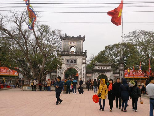 Đền Trần - nơi tổ chức lễ khai ấn vào tối 14 tháng giêng năm Giáp Ngọ