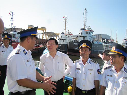Chủ tịch nước Trương Tấn Sang thăm Cảnh sát biển Vùng 2 vào ngày 3-7