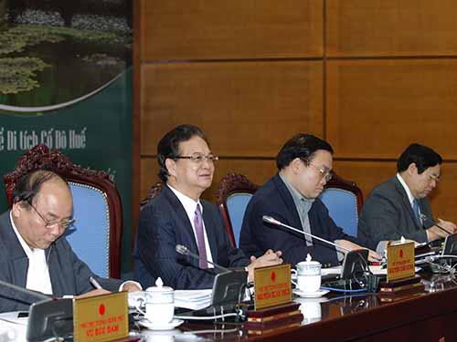 Thủ tướng Nguyễn Tấn Dũng chỉ đạo tại cuộc họp Chính phủ tháng 2-2014