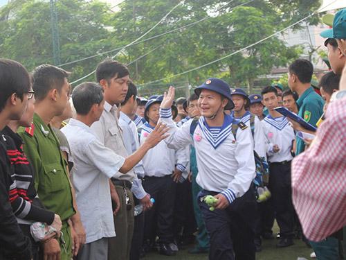 Thanh niên TP HCM lên đường nhập ngũ năm 2014Ảnh: Phan Anh