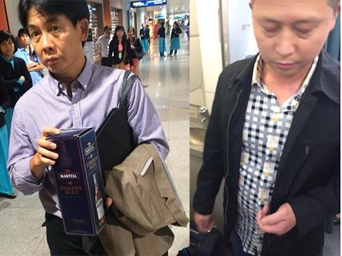 Đối tượng Quang Michel (ảnh trái) và He Qunxian Ảnh: TÂN TIẾN - TÔ HÀ