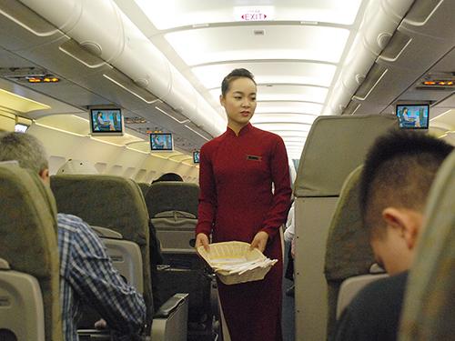 Tiếp viên hàng không là nghề có thu nhập cao. (Ảnh chỉ có tính minh họa)Ảnh: Tấn ThẠnh