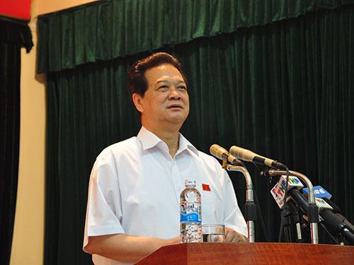 """Thủ tướng Nguyễn Tấn Dũng: """"Phải bảo vệ chủ quyền bằng mọi biện pháp đấu tranh ngoại giao, hòa bình"""""""