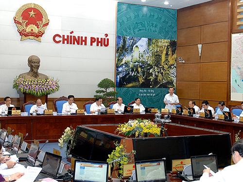 Chính phủ họp thường kỳ tháng 9-2014Ảnh: NHẬT BẮC