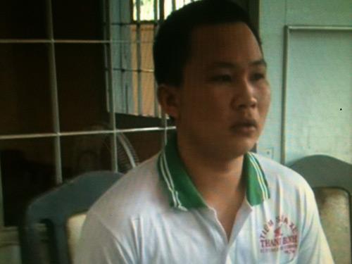 Lê Văn Thuận tại cơ quan công an