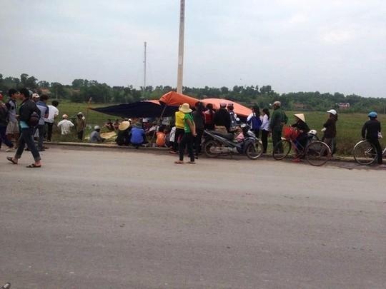 Hiện trường nơi Dũng gây ra tai nạn gây nên cái chết thương tâm cho nông Hùng