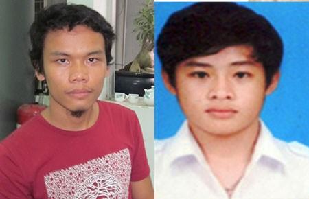 Nghi can Nguyễn Kim An (trái). Nạn nhân Lưu Vĩnh Đạt. Ảnh: plo.vn