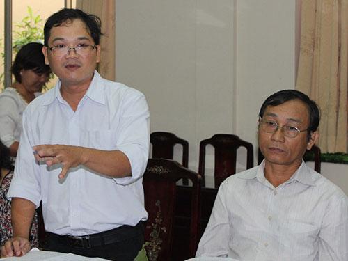 Cán bộ Công đoàn phát biểu ý kiến tại buổi tọa đàm  Ảnh: Hồng Đào