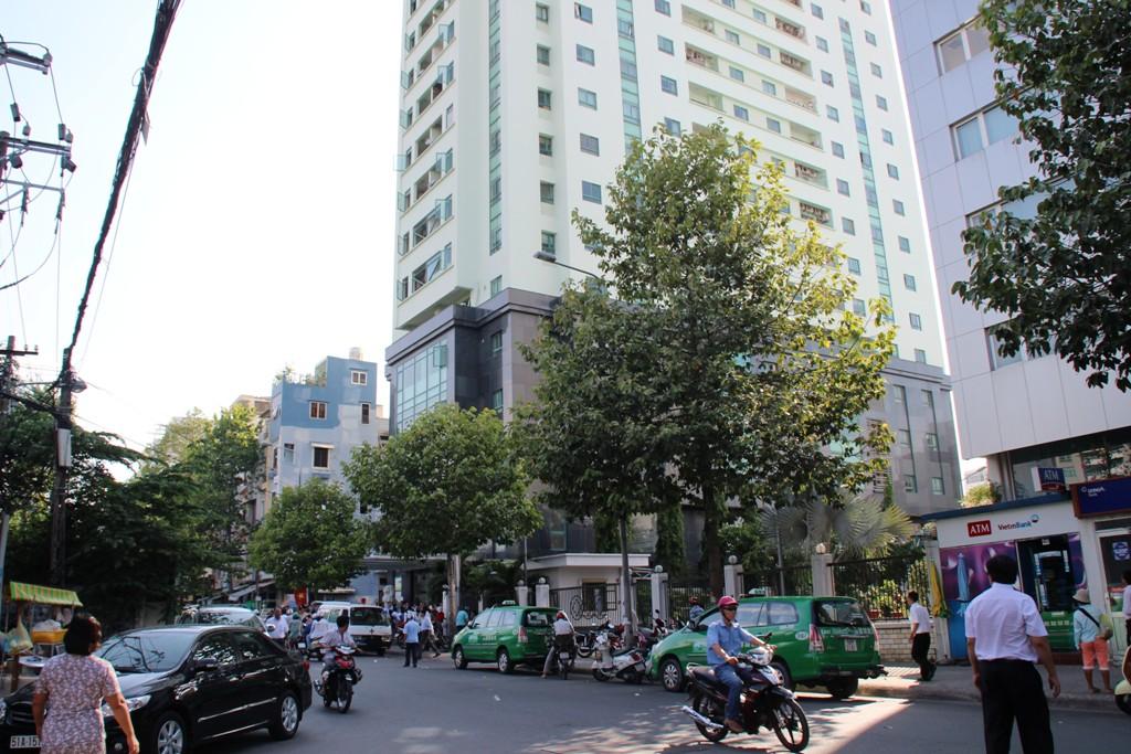 Tòa nhà Indochina, số 4 Nguyễn đình Chiểu, phường Đa Kao, quận 1 – TP HCM, nơi ông Lam rơi từ tầng 9 xuống đất tử vong vào chiều 5-5.