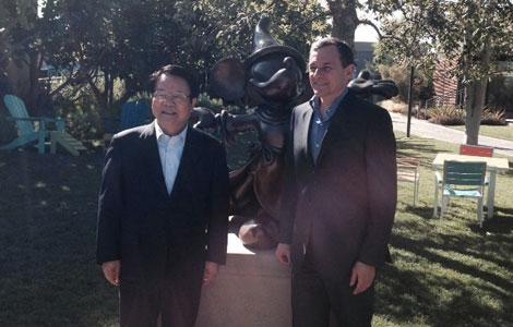 Ông Yu Tianhua (trái). Ảnh: China Daily