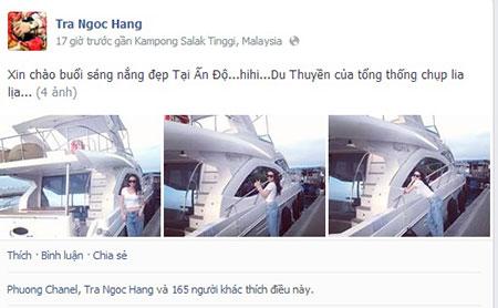Khoe là chụp ở Ấn Độ nhưng facebook ghi lại là ảnh post lên ở Malaysia