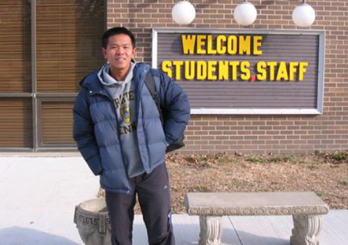 HLV Trần Đức Huỳnh đang du học tại Mỹ