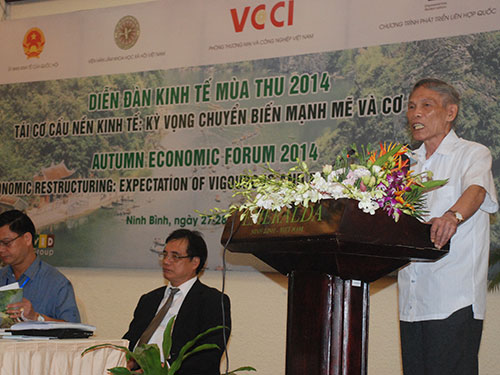Nguyên Bộ trưởng Bộ Thương mại Trương Đình Tuyển cho rằng nền kinh tế Việt Nam đã chạm đáy vào cuối năm 2013 và đang vật vã đi lên