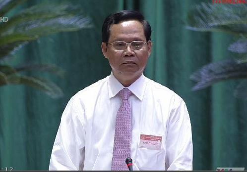 Tổng Thanh tra Huỳnh Phong Tranh trả lời chất vấn Quốc hội sáng 12-6