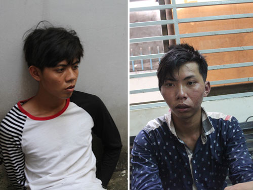 Đối tượng Nguyễn Trọng Tín và Nguyễn Văn Việt bị tạm giữa tại cơ quan công an