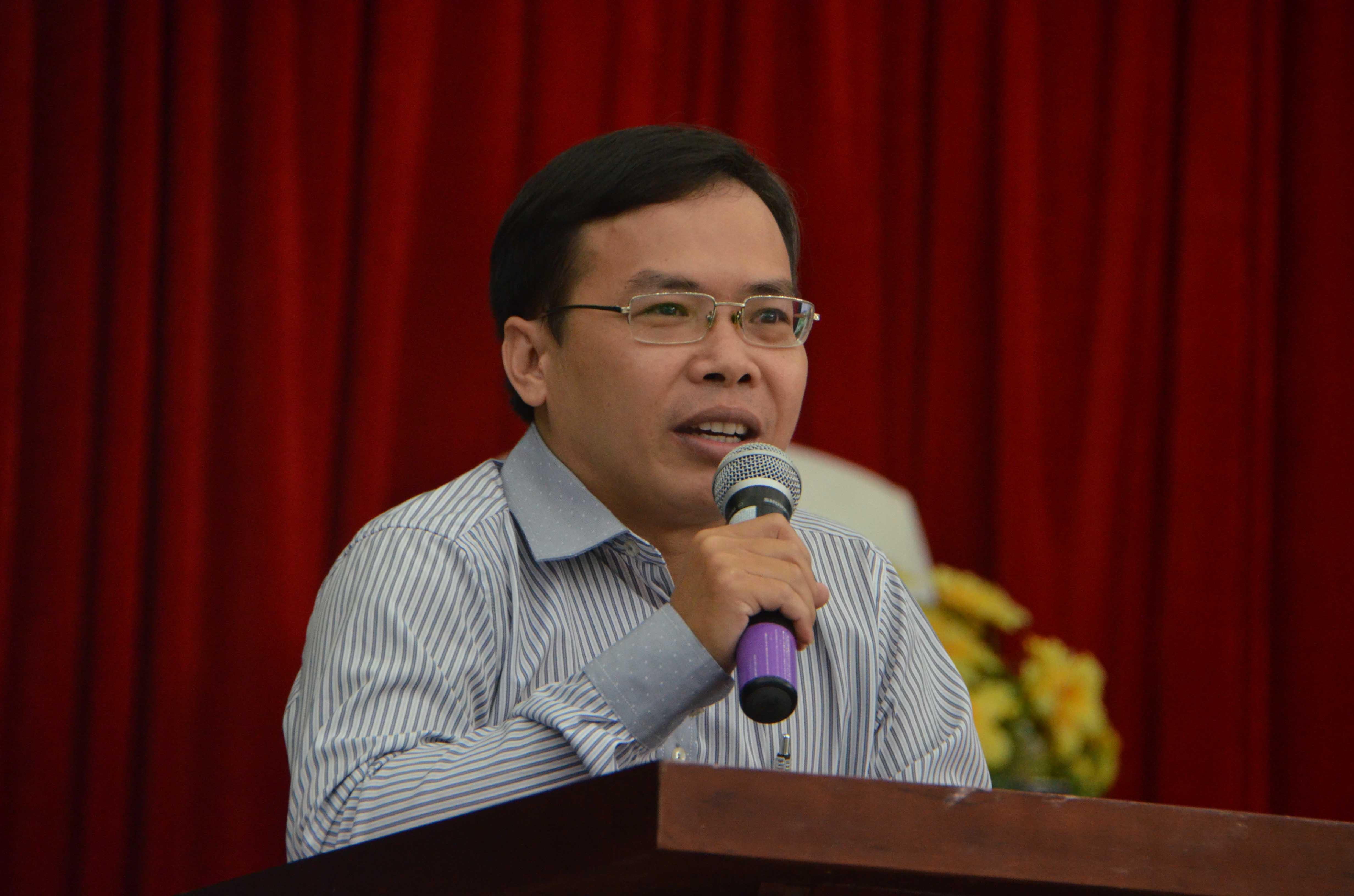 Ông Dương Văn Quang - Phó tổng Thư ký Toà soạn Báo Người Lao Động - phát biểu