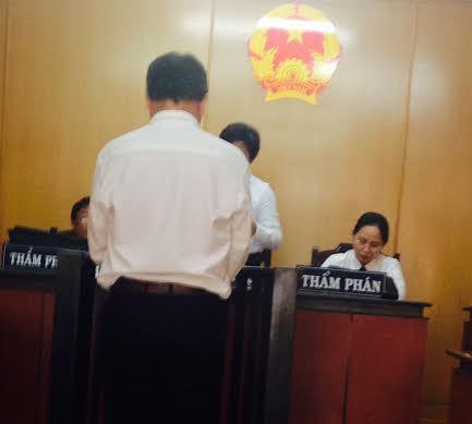 Bị cáo Tín trước tòa