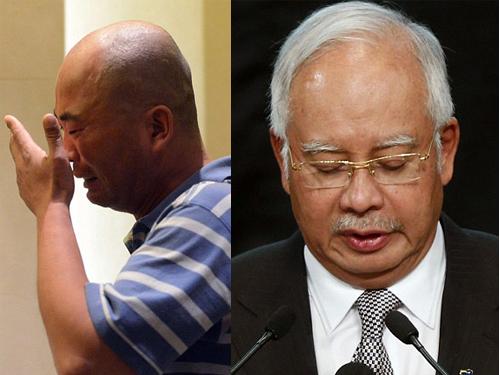 Tuyên bố tất cả hành khách trên máy bay đều tử nạn của thủ tướng Malaysia ajib Razak khiến thân nhân phẫn nộ