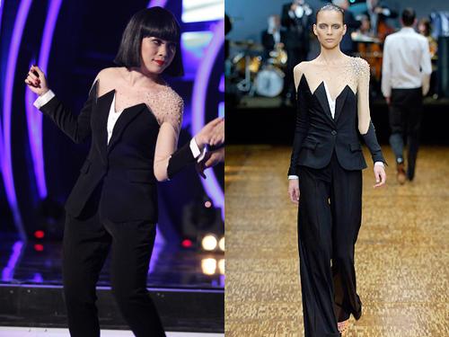 Tuy nhiên, cư dân mạng phát hiện sự giống nhau kỳ lạ giữa trang phục Mỹ Tâm mặc và thiết kế trong bộ sưu tập Xuân Hè năm 2007 của Viktor & Rolf