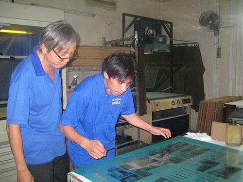 Công nhân Tổng công ty Văn hóa luôn được quan tậm, tạo điều kiện nâng cao tay nghề