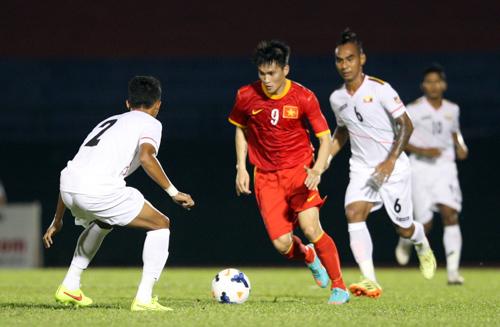 Công VInh tỏa sáng trong trận đè bẹp Myanmar 6-0