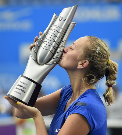 Kvitova trên đỉnh vinh quang