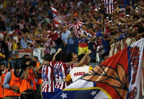 Niềm vui chiến thắng của Atletico Madrid