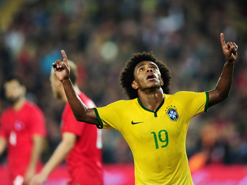 Willian ghi bàn thứ ba cho Brazil