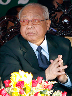 Lễ tang của ông Chea Simdự kiến được tổ chức vào ngày 19-6. Ảnh: AP
